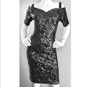 Vintage LILLIE RUBIN 90's Bodycon sequined dress!